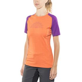 Norrøna Fjørå Equaliser Lightweight T-Shirt Women Royal Lush/Scarlet Ibis